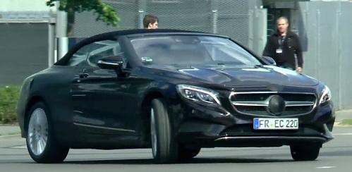 Новый кабриолет Mercedes-Benz S-Class «засветился» без камуфляжа
