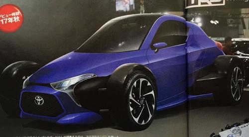 Toyota представит в Токио новый трехместный спорткар