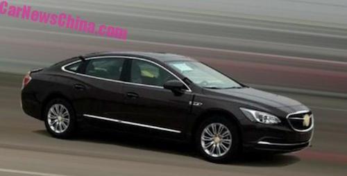 Шпионские снимки нового Buick LaCrosse сделаны в Китае