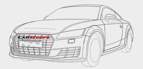 В Сети опубликованы патентные изображения нового «заряженного» купе Audi TT RS