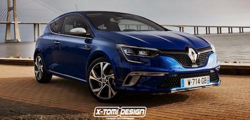 В Сети опубликован рендер нового Renault Megane Coupe GT
