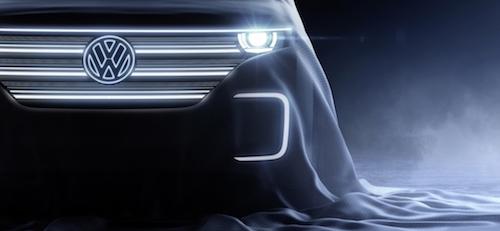 Volkswagen представил тизер нового концептуального кроссовера