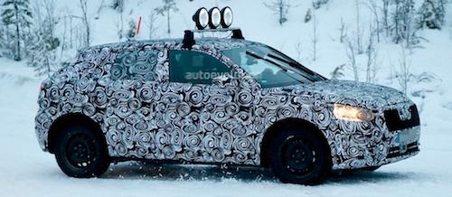 Компактный кроссовер Audi Q2 засветился на обширных зимних тестах