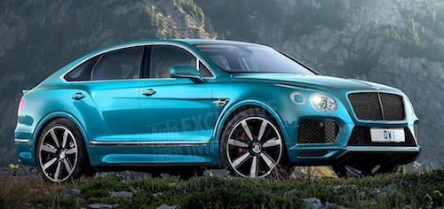 Bentley представит в Женеве кросс-купе Bentayga Coupe