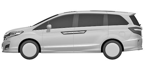 Компания Honda запатентовала дизайн нового минивэна