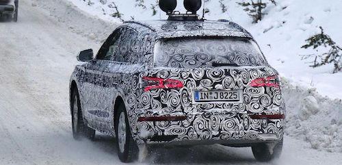 Новый Audi Q5 замечен на зимних тестовых испытаниях
