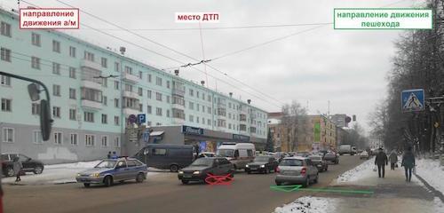 На улице Карла Маркса в Кирове за час сбили двух пешеходов