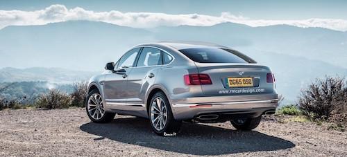 Опубликованы неофициальные рендеры Bentley Bentayga Coupe
