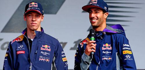 Риккиардо похвалил Квята за дебютный сезон в Red Bull