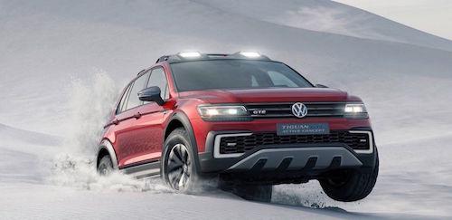 Volkswagen представил в Детройте концепт Tiguan GTE Active