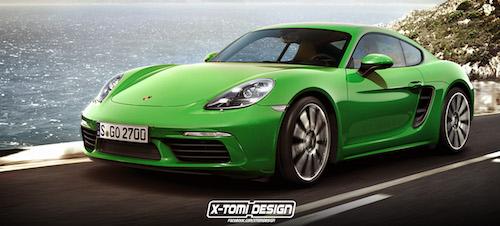 Опубликованы свежий рендер нового Porsche 718 Cayman