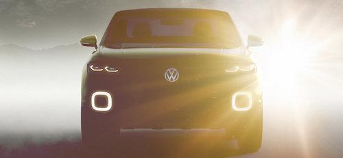 Volkswagen опубликовал тизер нового компактного кроссовера