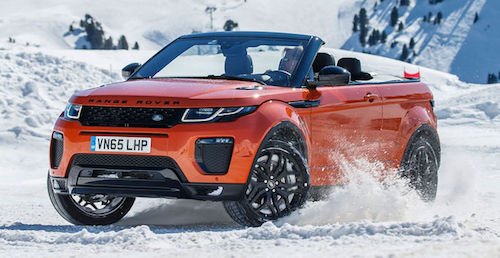 2017-Range-Rover-Evoque-Convertible-front-three-quarter-on-snow-07-e1459372206834