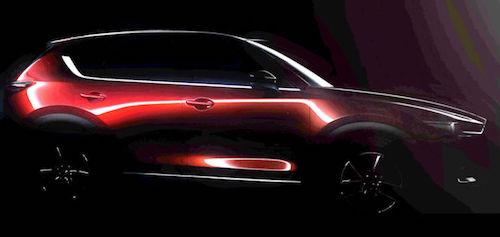 Mazda опубликовала первый тизер нового кроссовера CX-5