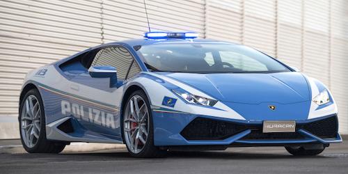 Итальянские полицейские пересели на суперкар Lamborghini Huracan