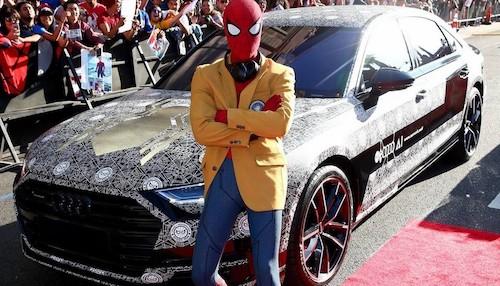 Новый седан Ауди A8 показали публике напремьере «Человека-паука»