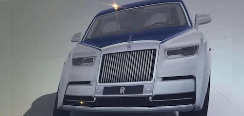 Изображения дизайна Rolls-Royce Phantom 2018 утекли в Сеть