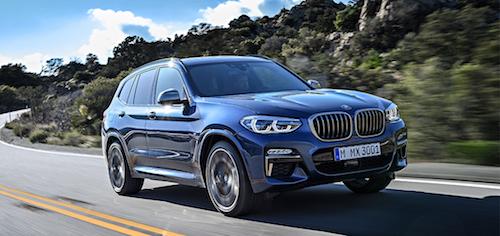 Названа базовая цена на кроссовер BMW X3 для России