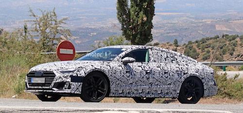 Спортивную Audi A7 впервые засняли на тестах