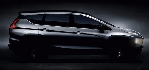 Mitsubishi опубликовала новый тизер своего 7-местного минивэна Expander