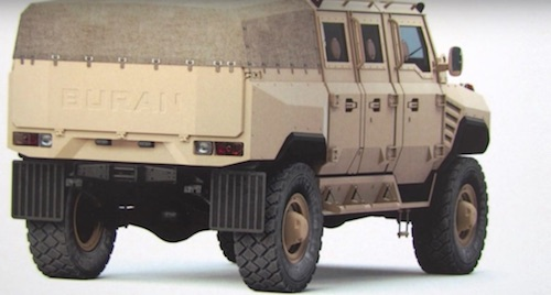 На автосалоне МАКС-2017 представили 9-тонный бронемобиль «Буран»