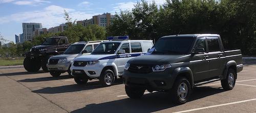 "В Астане показали спецтехнику на базе ""УАЗ"""