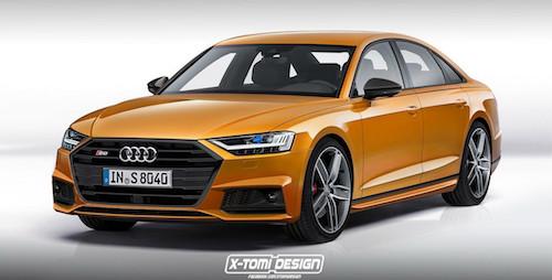Опубликованы рендеры новых Audi A8 2018 Coupe, Avant, S8 и RS8