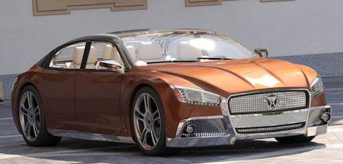 Концепт дизайна автомобиля «Волга-2020» впечатлил американцев
