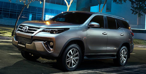 Тойота готовится квыводу в реализацию вРФ джипа Fortuner