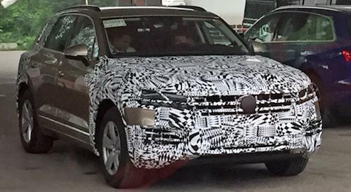 ВКитайской народной республике  засняли VW  Touareg обновленного поколения