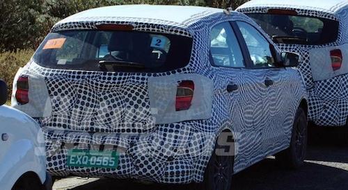 Новый Форд Figo 2018 увидели вовремя испытаний вБразилии
