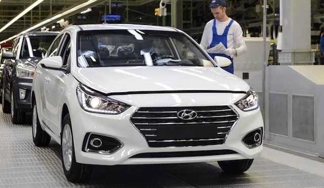 Петербургский завод Хёндай увеличил производство на12% ссамого начала года