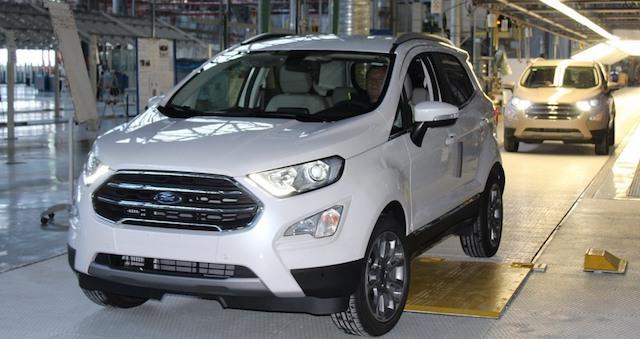 Вевропейских странах  запустили сборку Форд  EcoSport из русских  комплектующих