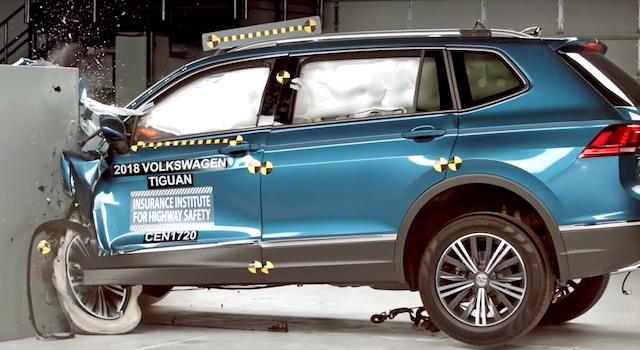 Volkswagen Tiguan 2018 не смог получить максимальную оценку в краш-тестах