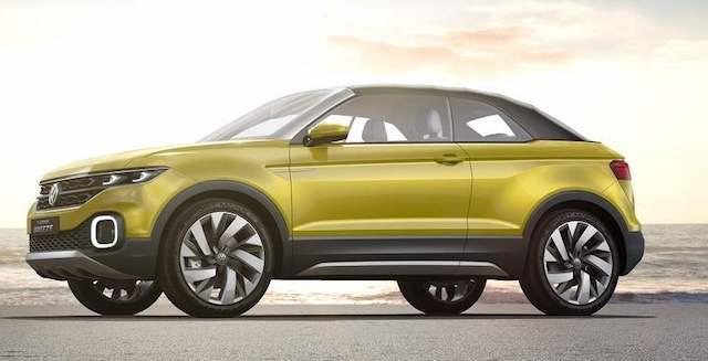 Появился первый снимок немецкого кроссовера Volkswagen T-Cross