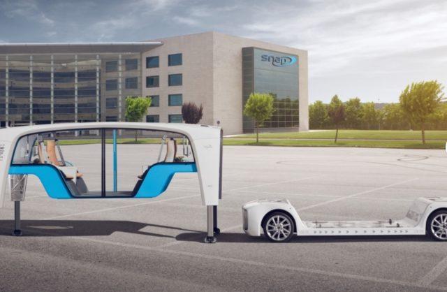 Rinspeed показала беспилотное авто со сменными кузовами