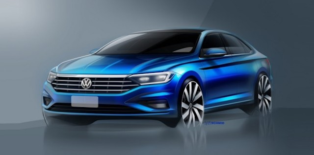 Volkswagen показал дизайн интерьера новой Jetta 2018