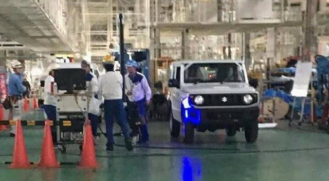 Опубликованы первые фото нового Suzuki Jimny 2018 без камуфляжа