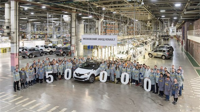 Renault выпустил в России 50-тысячный Kaptur
