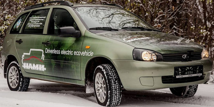 В Российской Федерации создан электрический беспилотник набазе Лада Kalina