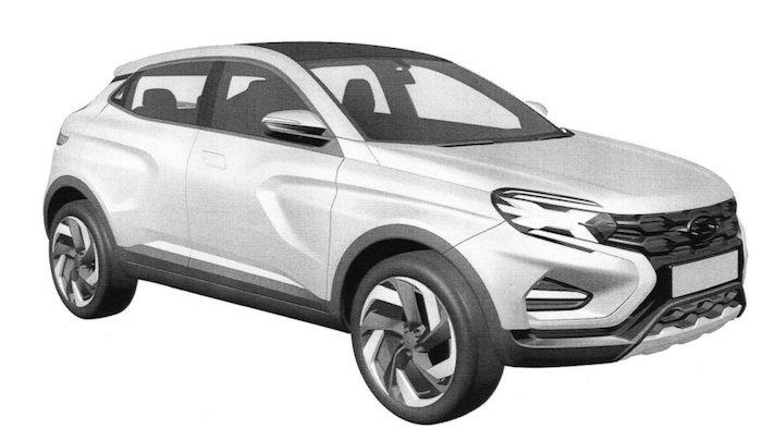 «АвтоВАЗ» запатентовал новый кроссовер Lada XCode. Фото