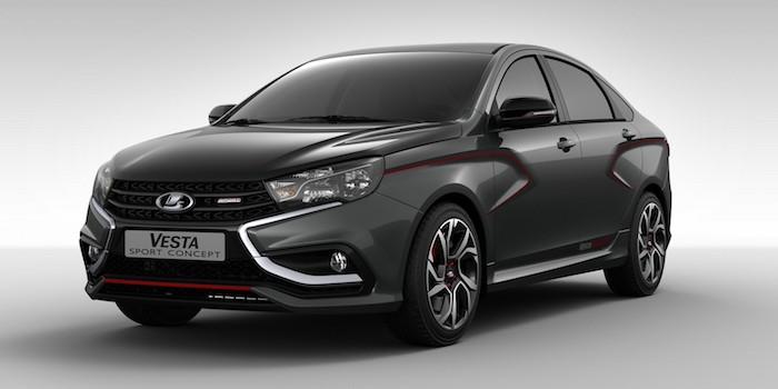 Седан Lada Vesta Sport получит черную обшивку крыши и салона