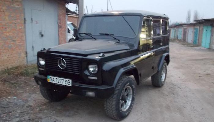 Украинский изобретатель превратил джип  УАЗ-31514 в«Гелендваген»