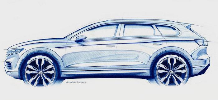 Volkswagen показал первый тизер нового поколения «Туарег»