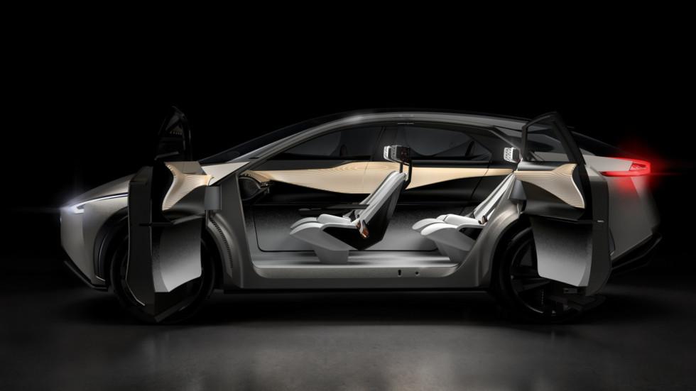 Ниссан продемонстрировал концептуальный автомобиль кроссовера IMx Kuro наженевском автомобильном шоу