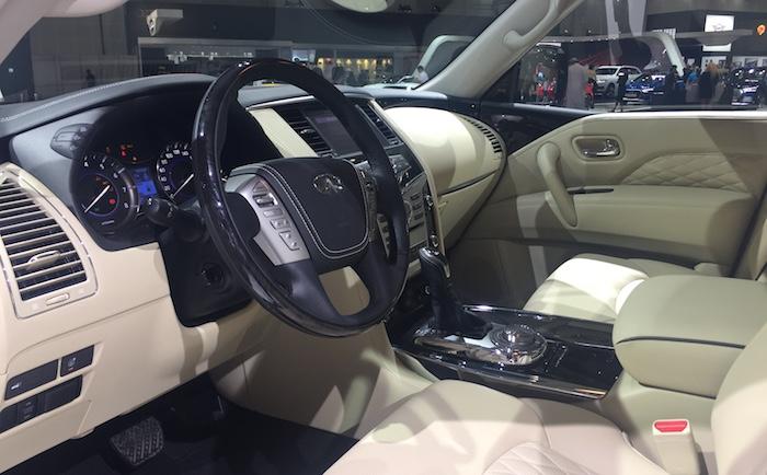 Инфинити кконцу весны начнет торговать в Российской Федерации улучшенный вседорожный автомобиль QX80