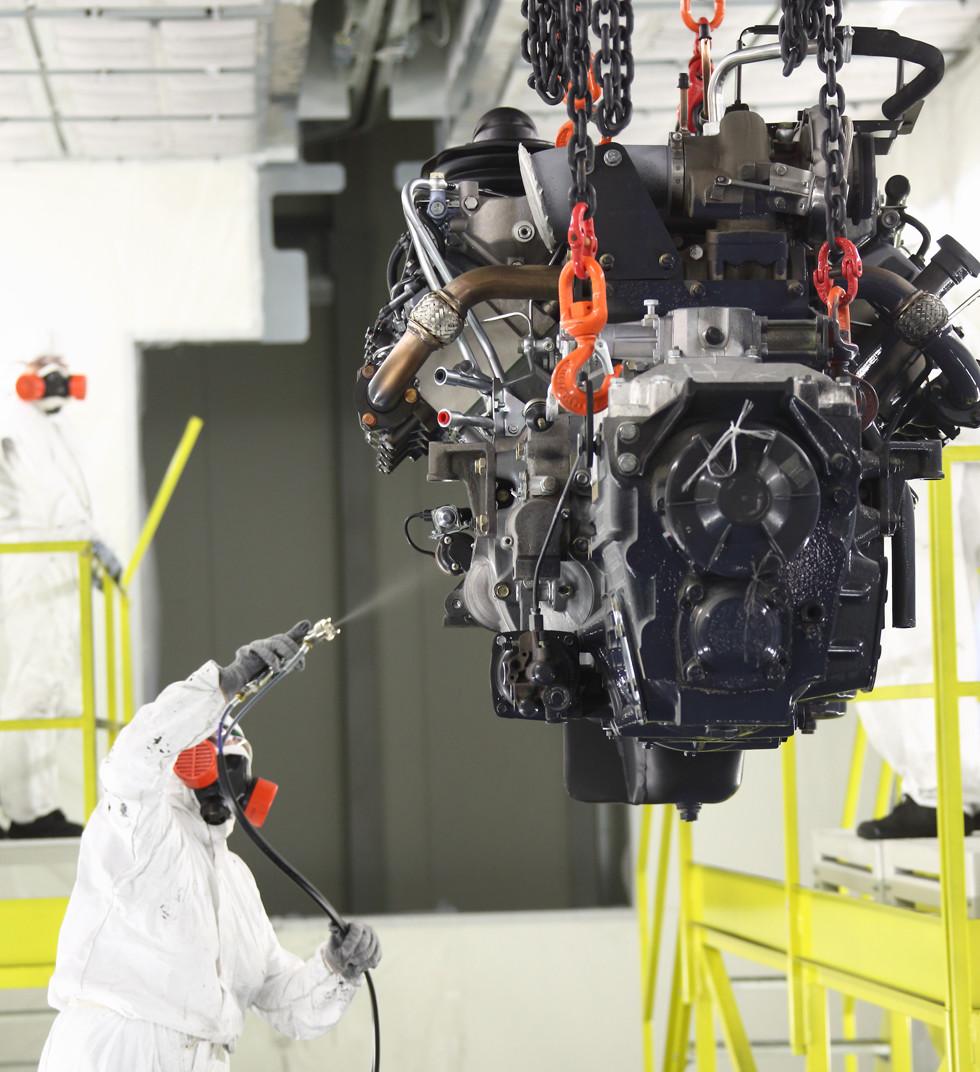 КАМАЗ запустил линию окраски моторов нового поколения
