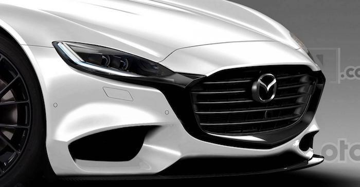 Новое купе Мазда RX-9 показалось напервых рендерах