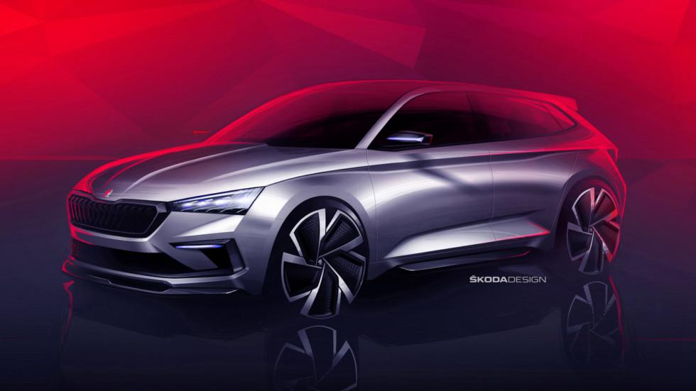 Skoda показала дизайн нового концепта Vision RS