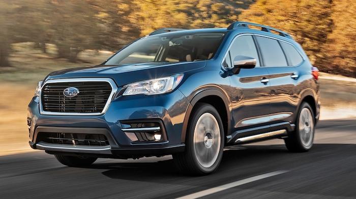 2019 Subaru Ascent front three quarter in motion